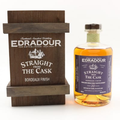 Edradour Straight From The Cask 1995 10 Year Old Bordeaux Finish 50cl