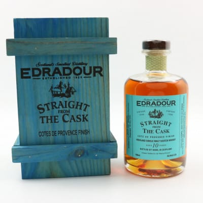 Edradour Straight From The Cask 1996 10 Year Old Cote De Provence Finish 50cl