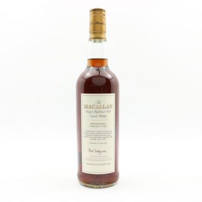 Macallan Gran Reserva Cask #51 1st Dinner Scotch Whisky Experience