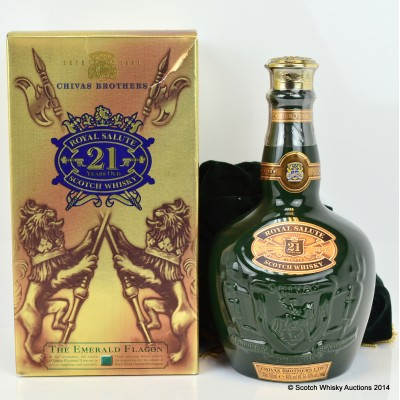 Chivas Royal Salute 21 Year Old Emerald Flagon