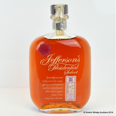 Jefferson's Presidential Select 21 Year Old 75cl