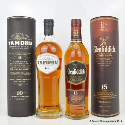 Tamdhu 10 Year Old & Glenfiddich Solera Vat 15 Year Old