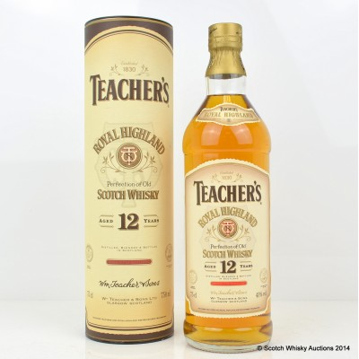 Teacher's Royal Highland 12 Year Old 75cl