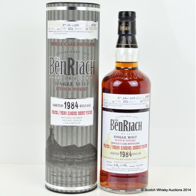 BenRiach Peated / Pedro Ximenez Finish 1984 27 Year Old