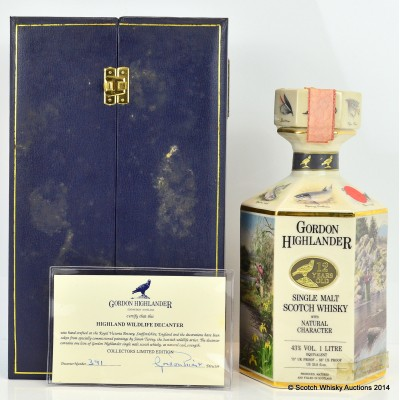 Gordon Highland Wildlife Decanter 1L