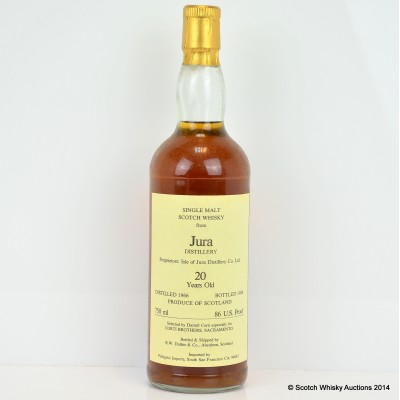 Jura 1966 20 Year Old Corti Brothers 75cl