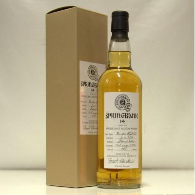 Springbank 14 Society Bottling