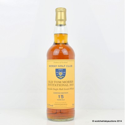 Moray Golf Club Old Tom Morris Invitational 2010 Limited Edition 15 Year Old