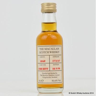 Macallan 1967 Fino Butt Cask #10469 Mini 5cl