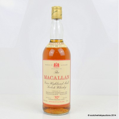 Macallan 10 Year Old 70° 26 2/3rds fl oz