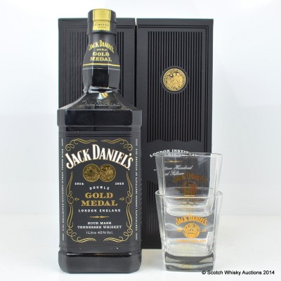 Jack Daniel's Anglo American Exhibition With Glasses 1L