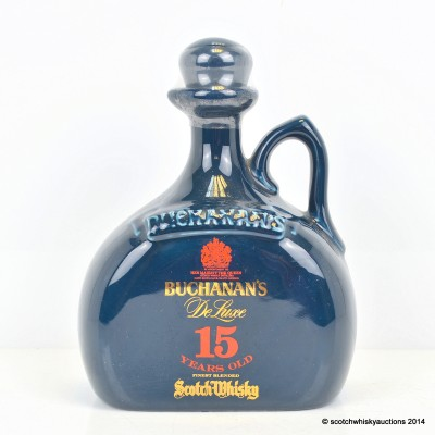 Buchanan's De Luxe 15 Year Old Ceramic Decanter