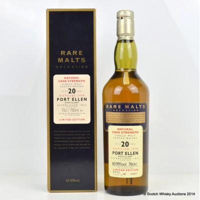 Rare Malts Port Ellen 1978 20 Year Old Bottle Number 1