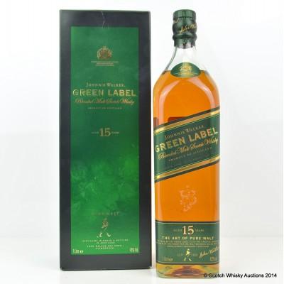 Johnnie Walker Green Label 15 Year Old 1L