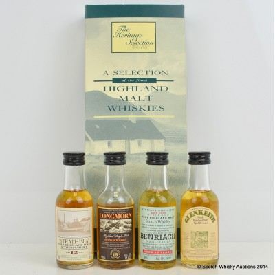 The Heritage Selection Minis, Longmorn 15 Year Old, Strathisla 12 Year Old, Glen Keith 1983, Benriach 10 Year Old 5cl
