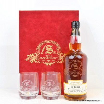 Littlemill 1965 32 Year Old Signatory 10th Anniversary Bottling With Glasses Set