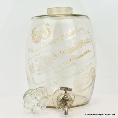 Johnnie Walker Old Highland Whisky Glass Barrel