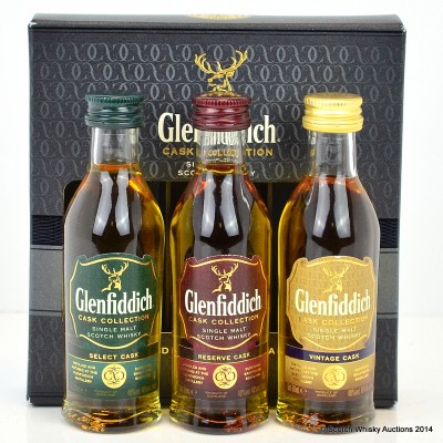 Glenfiddich Cask Collection Minis 3 x 5cl