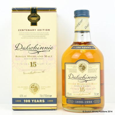 Dalwhinnie Centenary Edition 15 Year Old