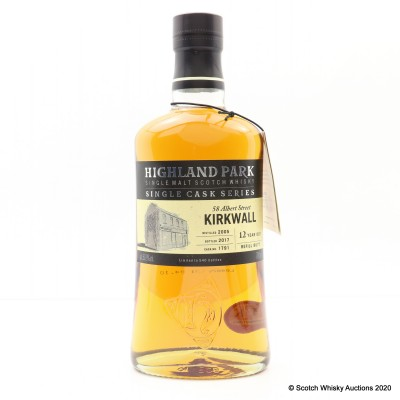 Highland Park 2005 12 Year Old Single Cask #1791 For 58 Albert Street Kirkwall