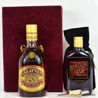 Glayva Liqueur 68cl & Stags Breath Liqueur With Pourer 35cl