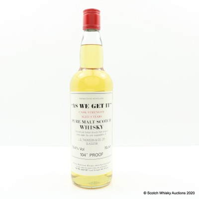 'As We Get It' Pure Malt 8 Year Old Cask Strength