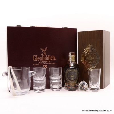Glenfiddich Ultimate 38 Year Old With Glasses Set