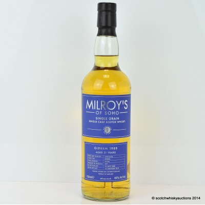Girvan 1988 21 Year Old Single Grain Milroy's