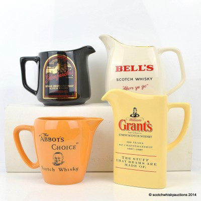 Assorted Whisky Jugs x 4