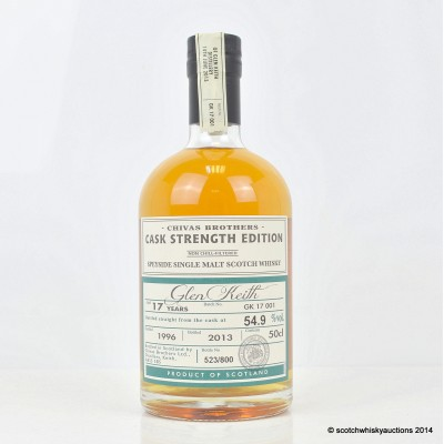 Chivas Brothers Glen Keith Reopening 1996 17 Year Old 50cl