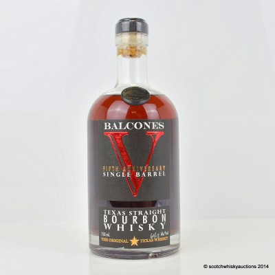 Balcones 5th Anniversary Single Barrel Texas Straight Bourbon First Release Signed 75cl