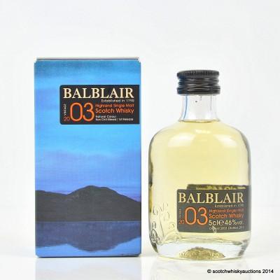 Balblair 2003 Mini 5cl