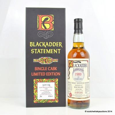 Macallan 1989 22 Year Old Cask Strength Blackadder