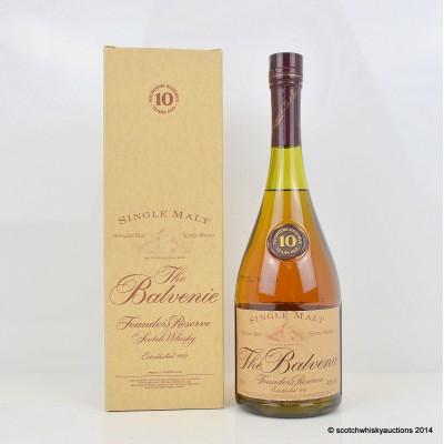 Balvenie Founder's Reserve 10 Year Old Cognac Bottle