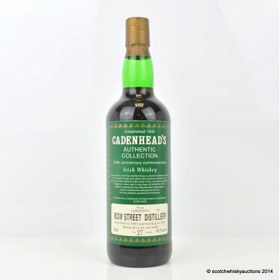 Cadenhead's Jameson's Bow Street Distillery 1963 27 Year Old 75cl