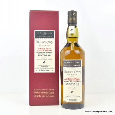 The Managers' Choice Dufftown 1997