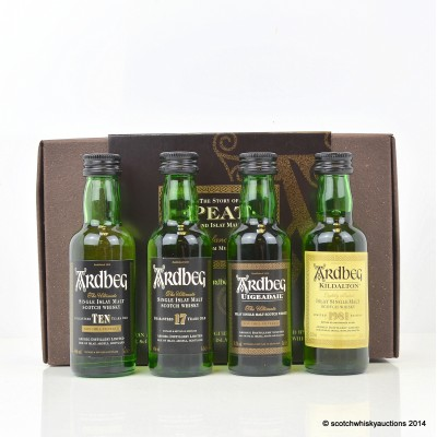 Ardbeg The Story of Peat Minis 4 x 5cl