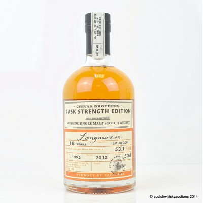 Chivas Brothers Longmorn Cask Strength 1995 18 Year Old 50cl
