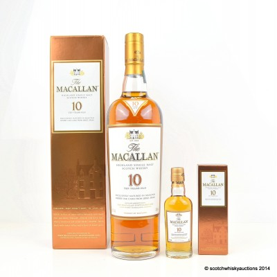 Macallan 10 Year Old & Mini 5cl