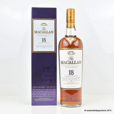 Macallan 18 Year Old 1993 Year Old