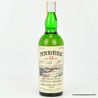 Ardbeg Special Reserve 1966 12 Year Old 26 2/3 Fl Ozs