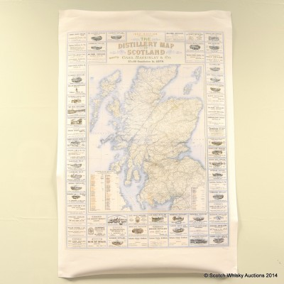 The Distillery Map Of Scotland 1902