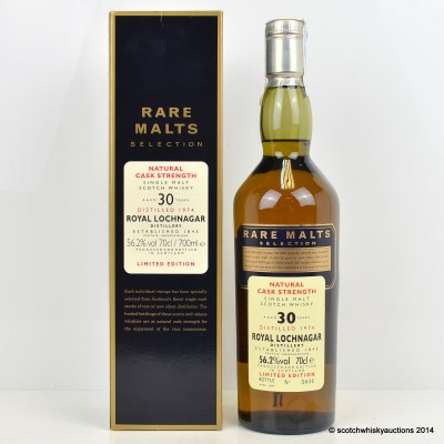 Rare Malts Royal Lochnagar 1974 30 Year Old