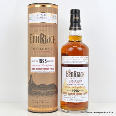 BenRiach Pedro Ximenez Sherry Finish 1996 16 Year Old