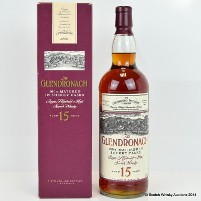 Glendronach 15 Year Old Old Style 1L
