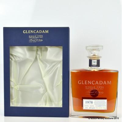 Glencadam 1978 30 Year Old Decanter