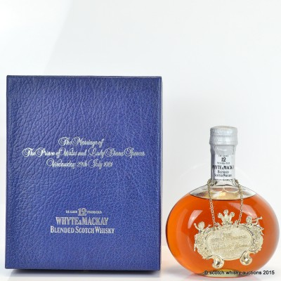 Whyte & MacKay 12 Year Old Charles And Diana Decanter 75cl
