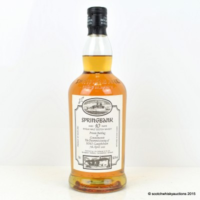 Springbank HMS Campbeltown 10 Year Old