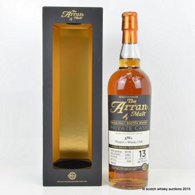 Arran Private Cask for Glasgow's Whisky Club
