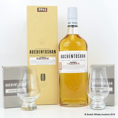 Auchentoshan Valinch 2011 Release & 2 Glencairn Glasses